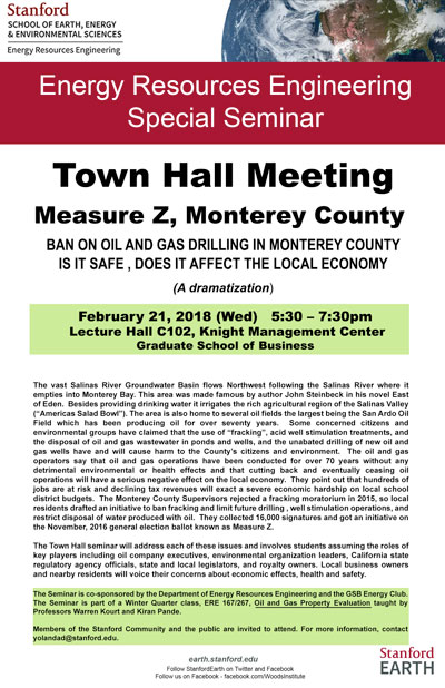 Town Hall Meeting Seminar: Measure Z, Monterey County | Stanford