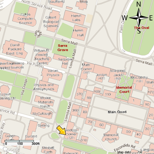 Map of Geology Corner on campus