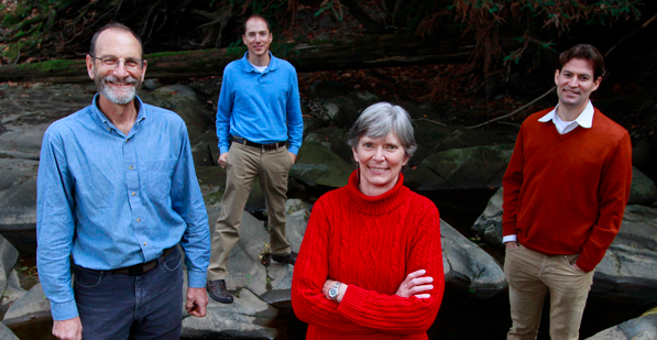 Stanford Woods Institute Senior Fellows Chris Field, David Lobell, Terry Root and Noah Diffenbaugh