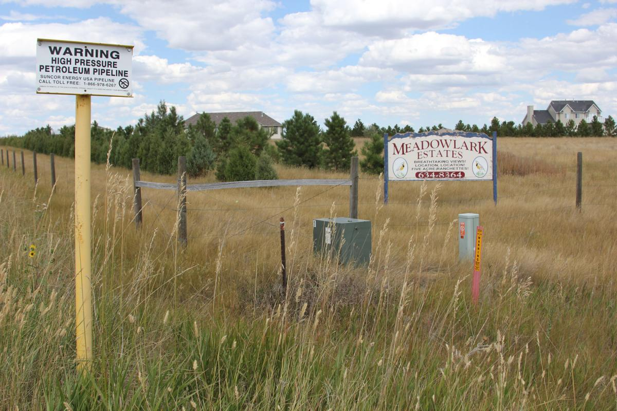 A housing development outside of Cheyenne, Wyoming.