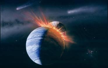 Earth moon impact