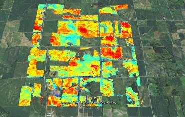 Satellite imagery of fields