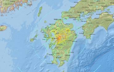 USGS map of Japan quake
