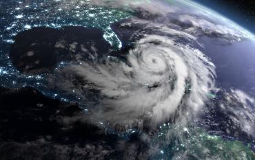 illustration of satellite approaching Florida