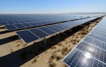 solar panels in Kern County, Calif.