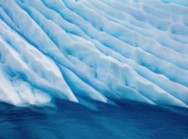 Blue ice flow