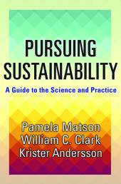 Pursuing Sustainability book cover