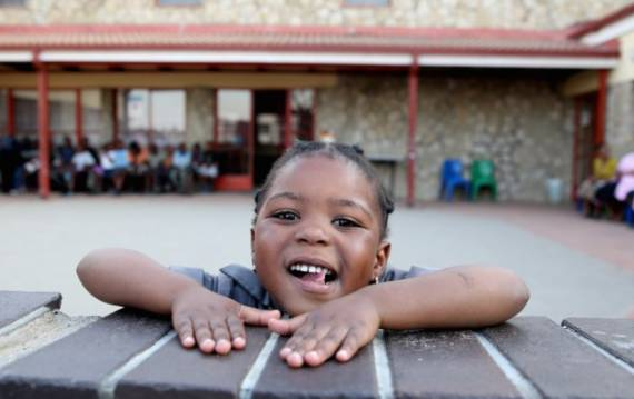 young girl at Sentebale health-care center