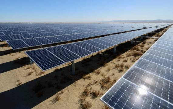 solar panels in Kern County, Calif.