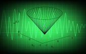 Illustration of green chart