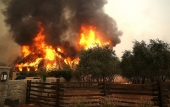 House burning in Northern California.