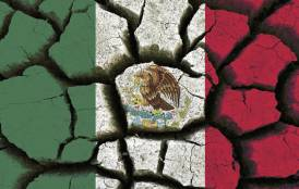 Mexican flag animated as drought affected land