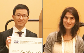 2017 SPE International Paper Contest winners Wenyue Sun and Noe Pollack