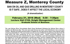 Town Hall Meeting Measure Z, Monterey County - Stanford ERE