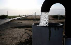 Groundwater being pumped into a container