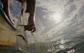 Fishing net in water