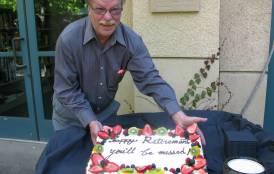 Louis Castanier's retirement party