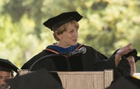 Pamela Matson at Stanford Earth commencement