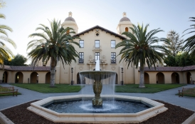 fountain at Stanford
