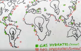 gas hydrates map