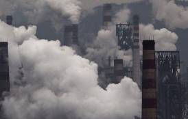 smoke from steel factory in china
