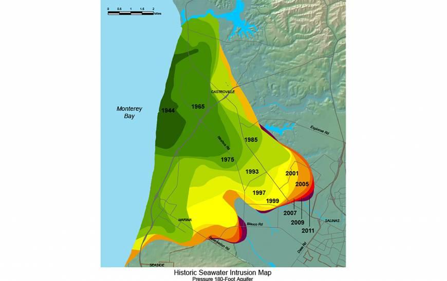 Freshwater Challenge Imaging Saltwater Intrusion Along Monterey - Saltwater intrusion map us
