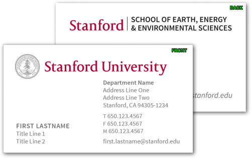 Stationery Business Cards Stanford